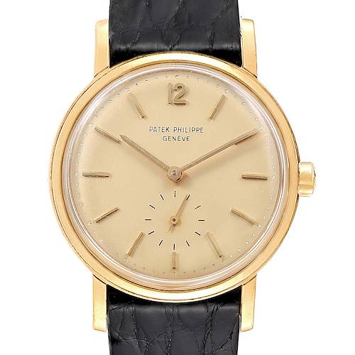 Photo of Patek Philippe Calatrava Vintage Yellow Gold Automatic Mens Watch 3435