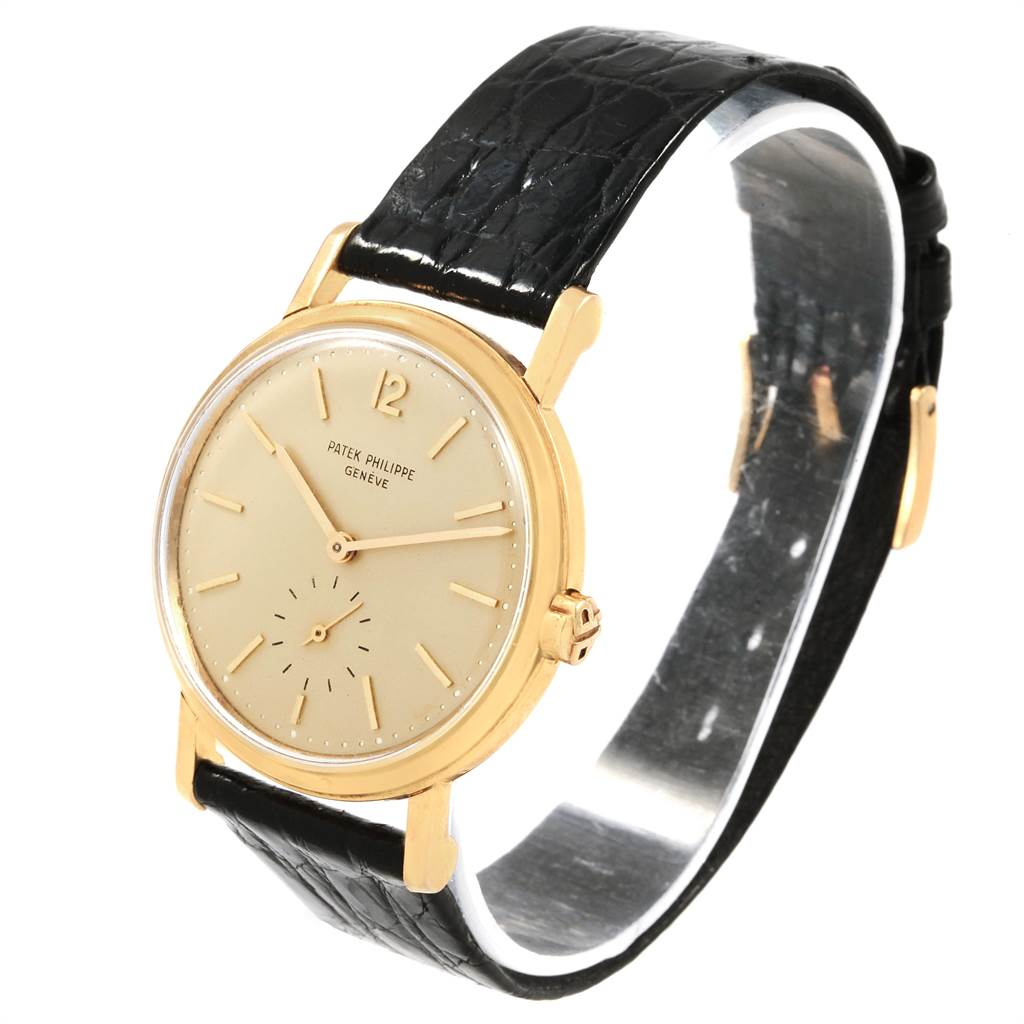 21339 Patek Philippe Calatrava Vintage Yellow Gold Automatic Mens Watch 3435 SwissWatchExpo