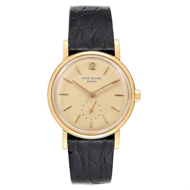 Patek Philippe Calatrava Vintage Yellow Gold Automatic Mens Watch 3435 SwissWatchExpo