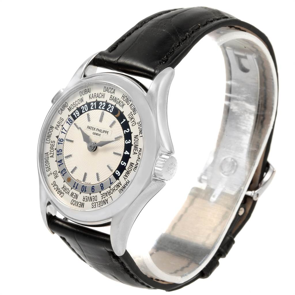 Patek Philippe World Time Automatic White Gold Mens Watch 5110 SwissWatchExpo