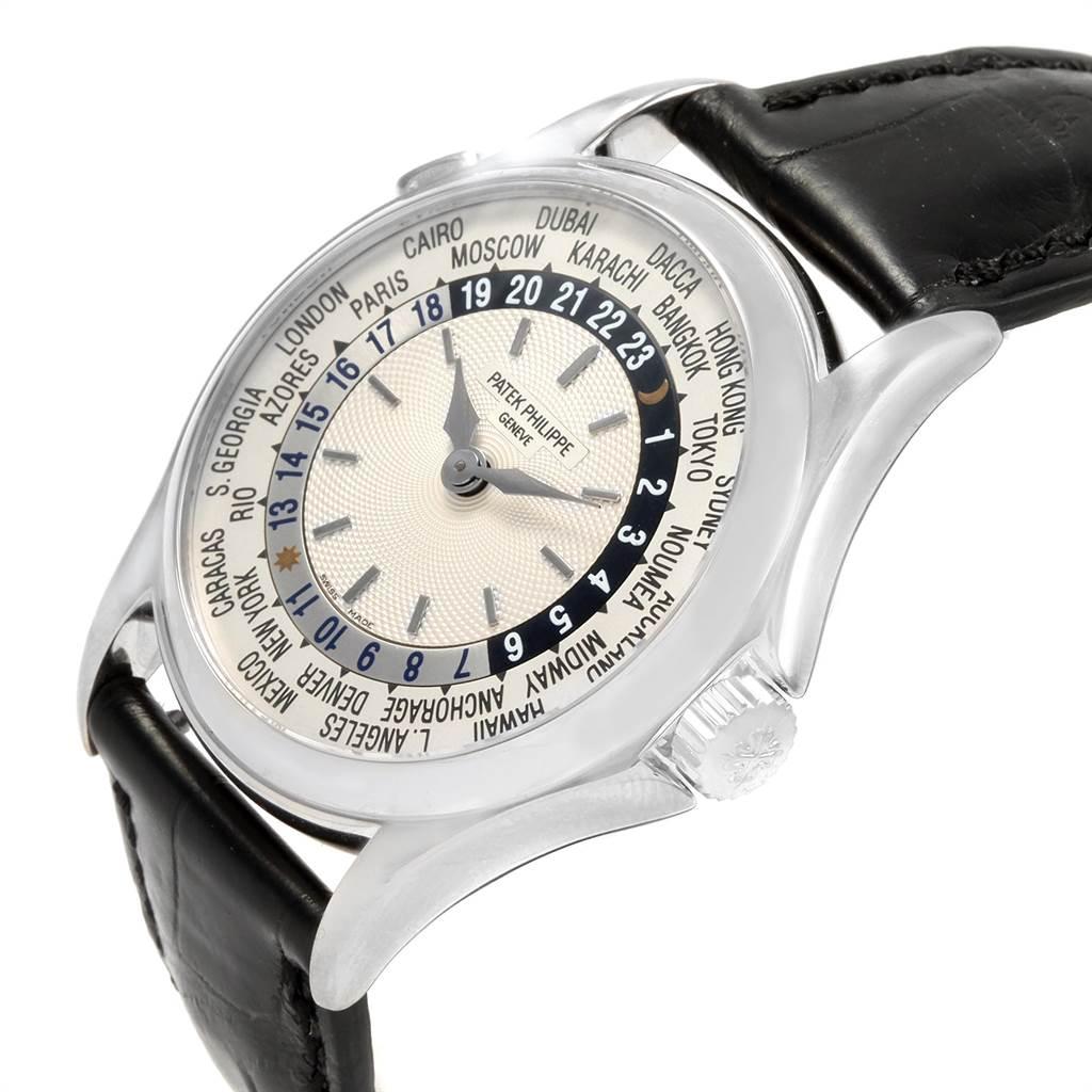 21762 Patek Philippe World Time Automatic White Gold Mens Watch 5110 SwissWatchExpo