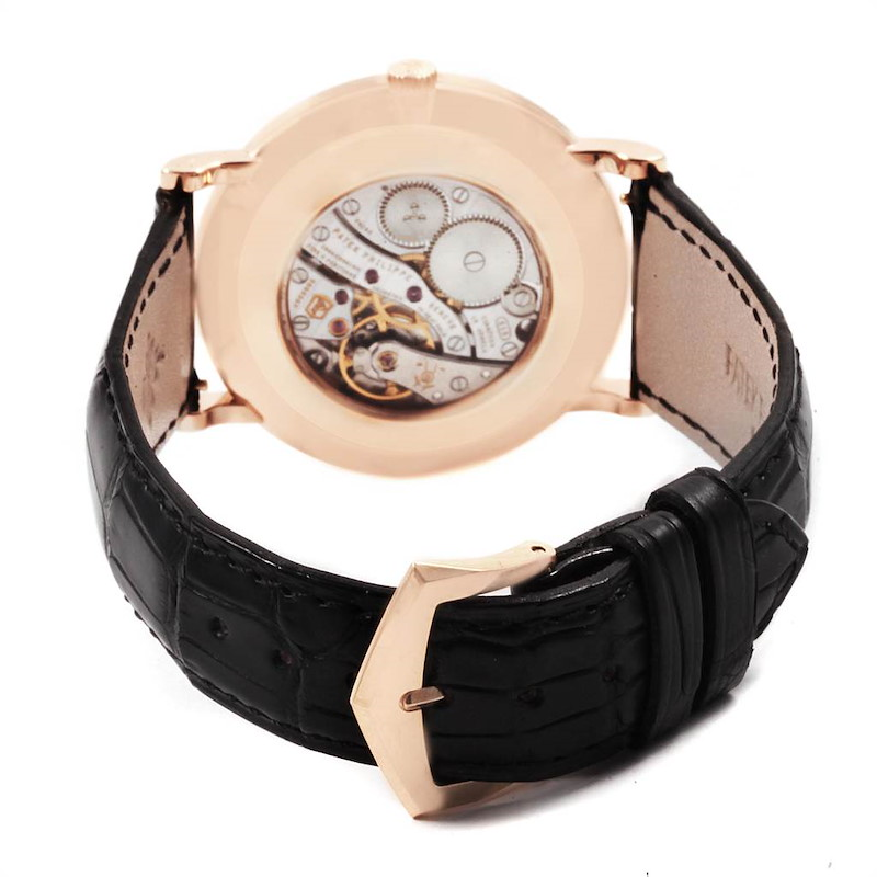 Patek Philippe Calatrava Rose Gold Enamel Dial Mens Watch 5116 SwissWatchExpo