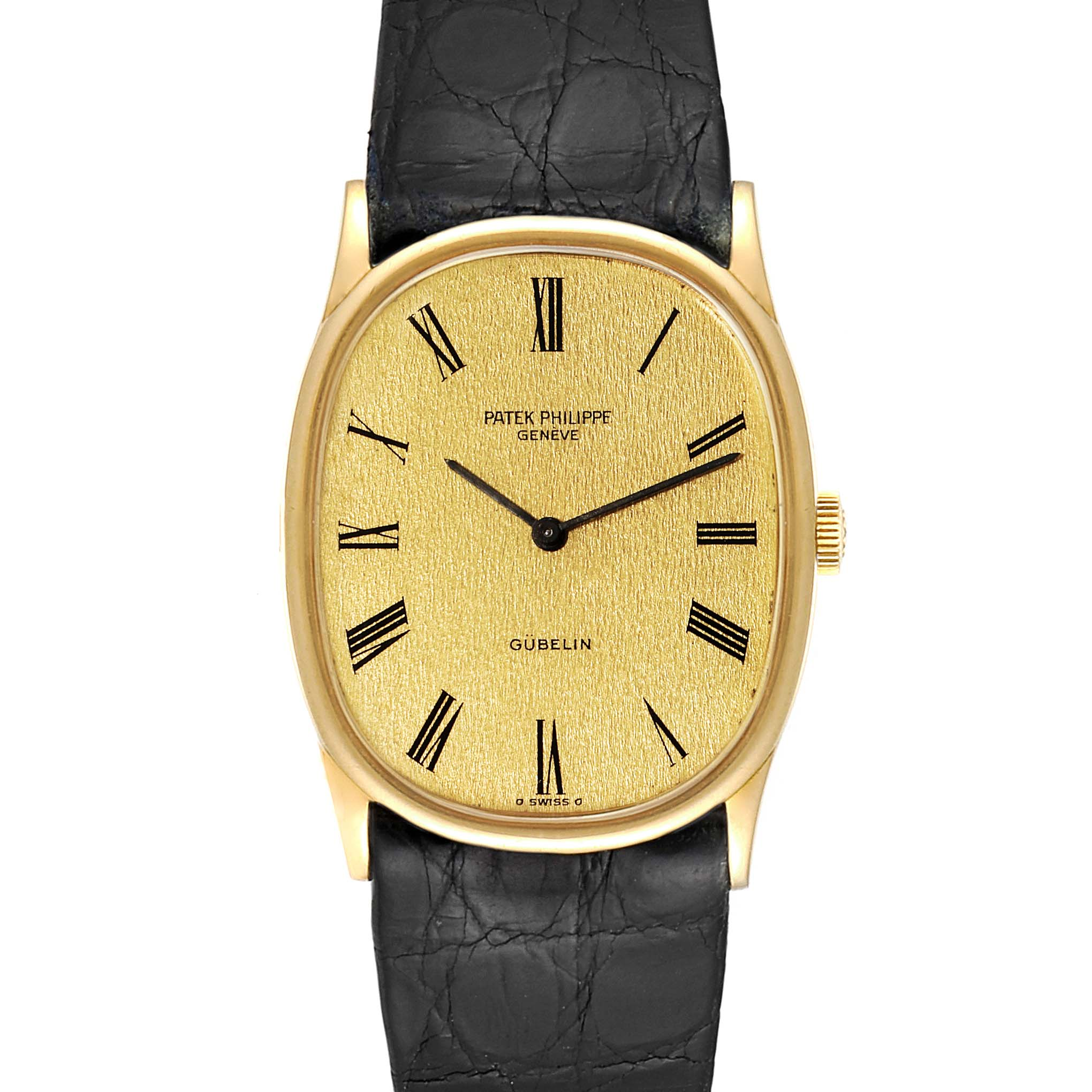 Patek Philippe Golden Ellipse 18k Yellow Gold Mens Watch 3846 SwissWatchExpo