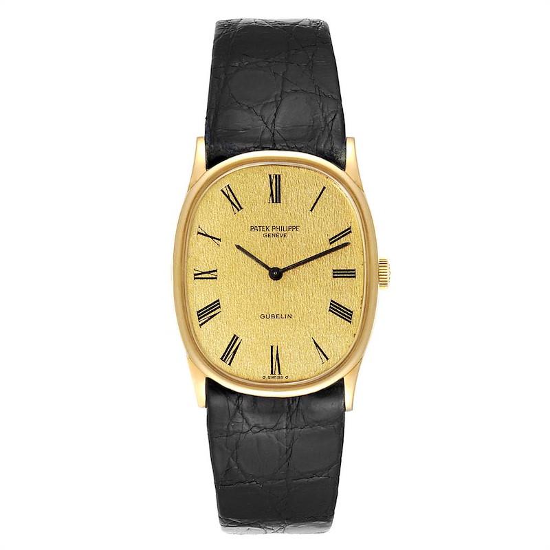 Patek Philippe Golden Ellipse 18k Yellow Gold Mens Watch 3846 SwissWatchExpo