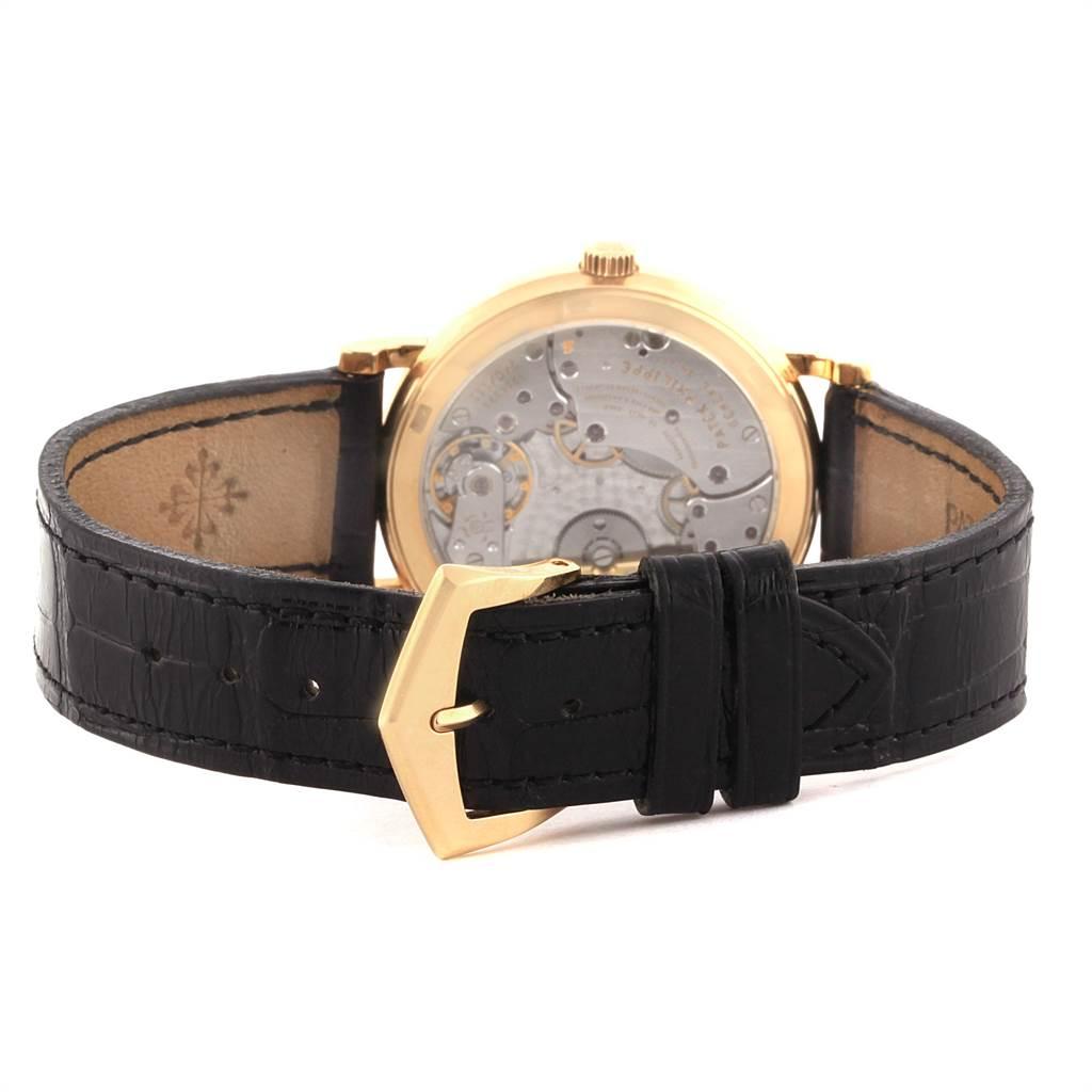22322 Patek Philippe Calatrava 18K Yellow Gold Automatic Mens Watch 5120 SwissWatchExpo