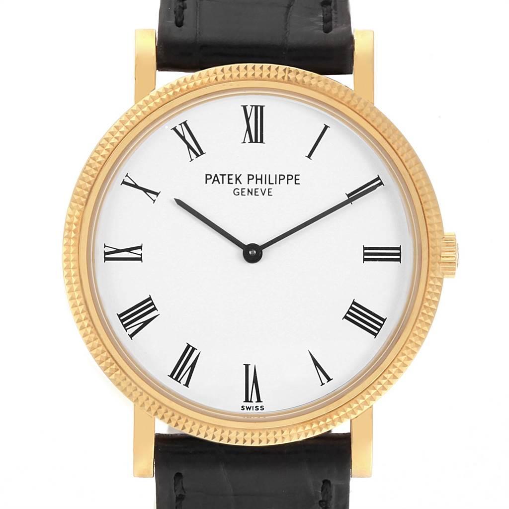 Patek Philippe Calatrava 18K Yellow Gold Automatic Mens Watch 5120 SwissWatchExpo