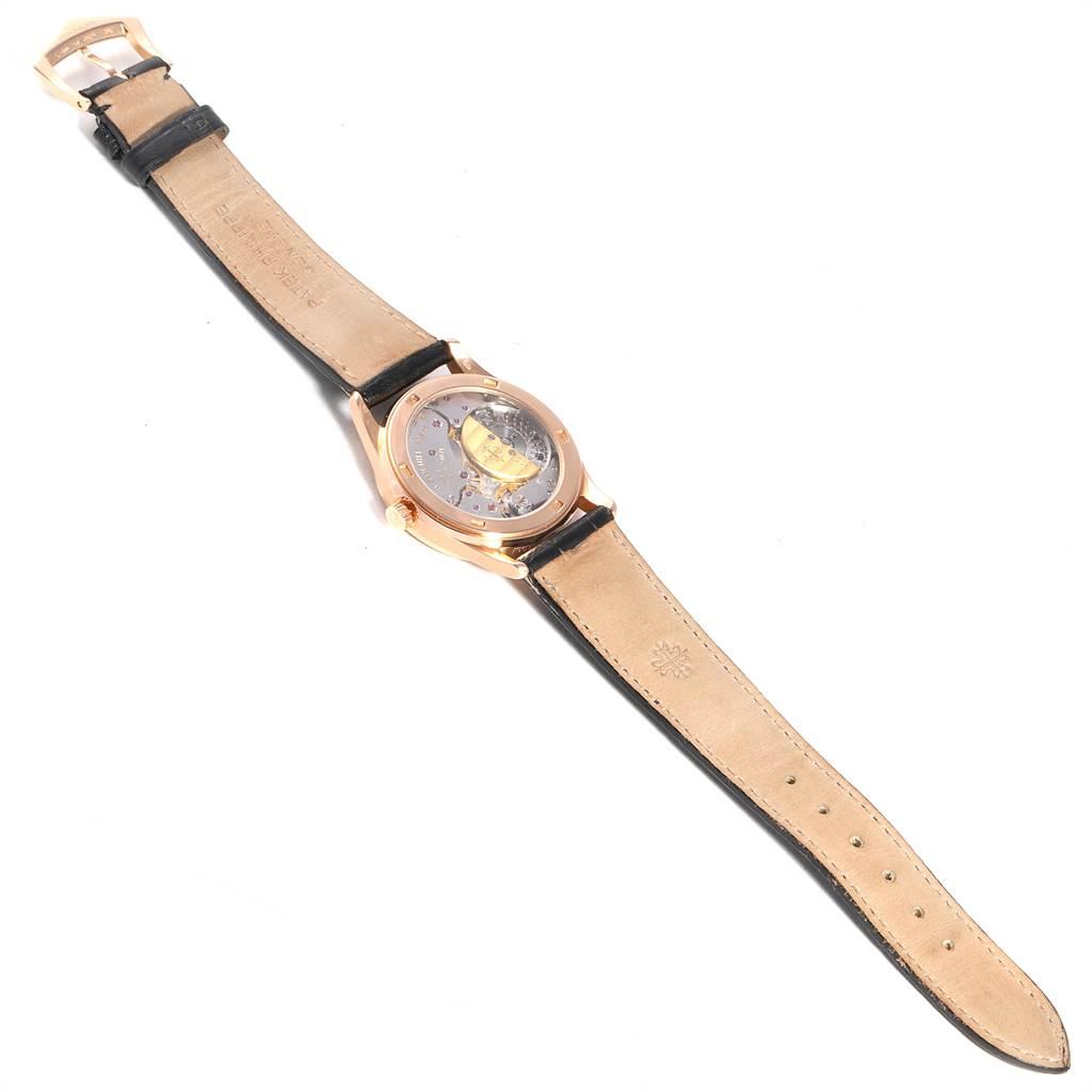 Patek Philippe Calatrava Rose Gold Black Dial Automatic Watch 5026R SwissWatchExpo