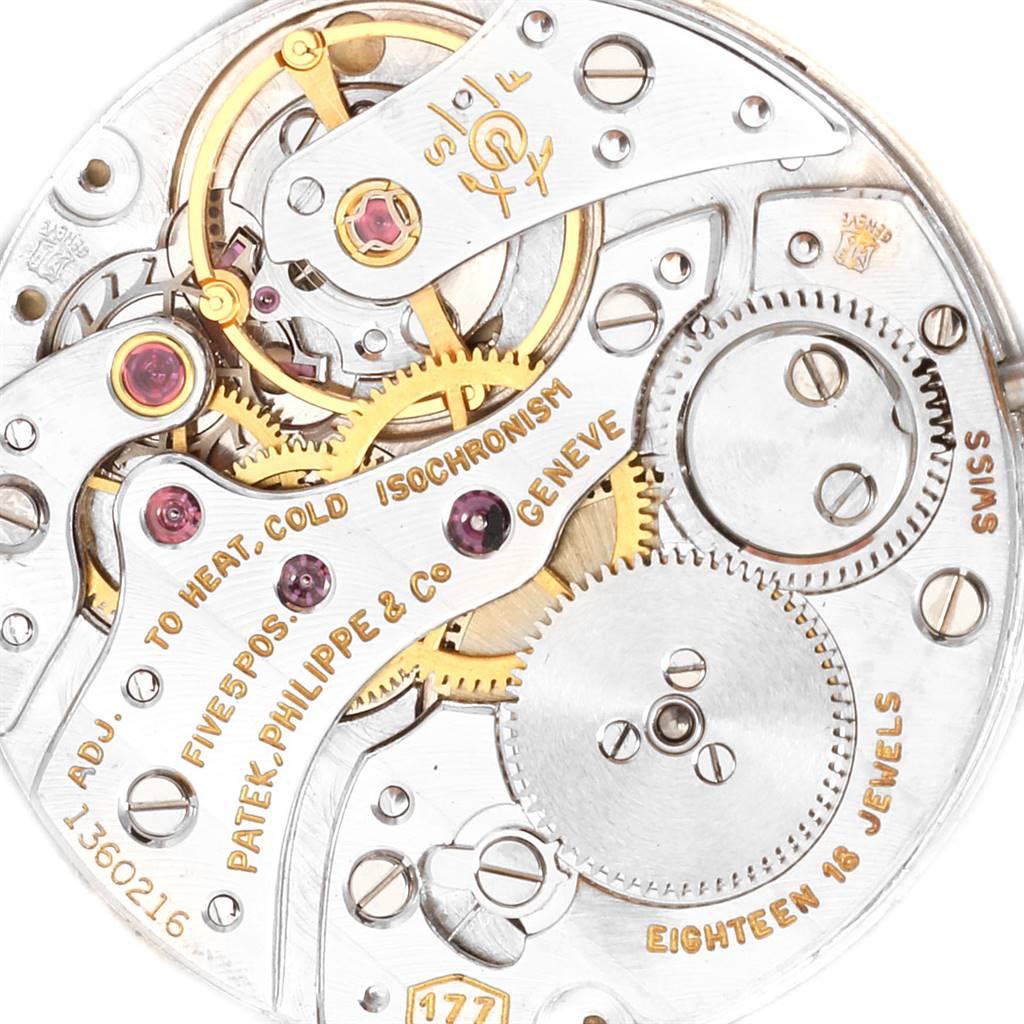 24577 Patek Philippe Yellow Gold Black Dial Vintage Mens Watch 3633 SwissWatchExpo