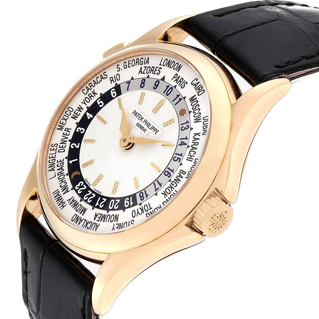 24821 Patek Philippe World Time Complications Yellow Gold Mens Watch 5110 SwissWatchExpo