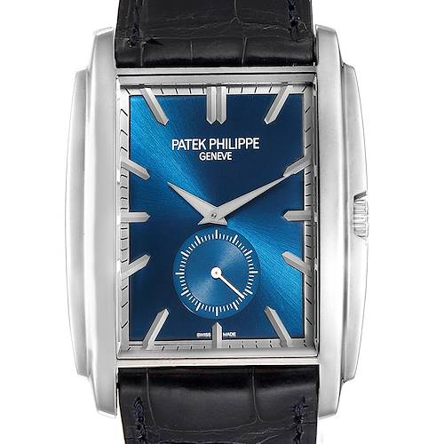 Photo of Patek Philippe Gondolo Small Seconds White Gold Blue Dial Mens Watch 5124
