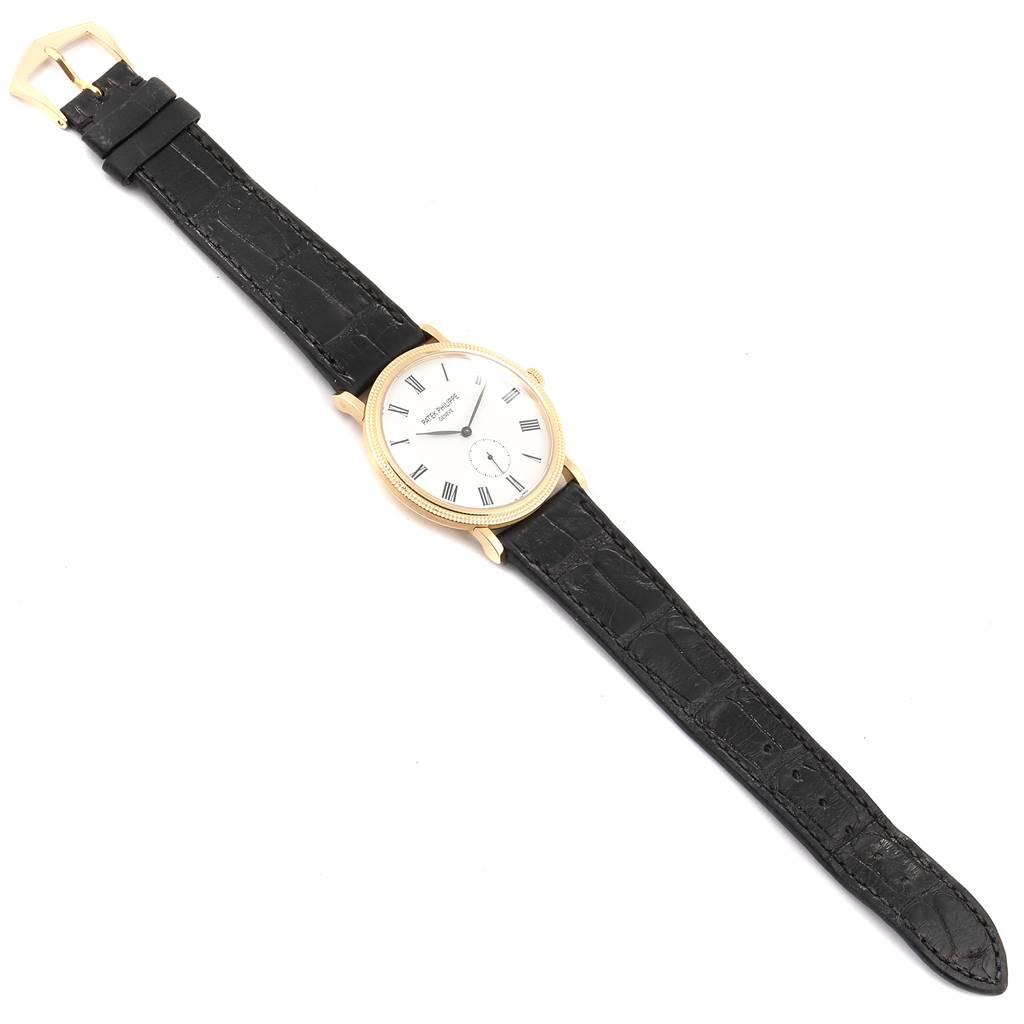 24817 Patek Philippe Calatrava Yellow Gold Watch 5119 Box Papers SwissWatchExpo