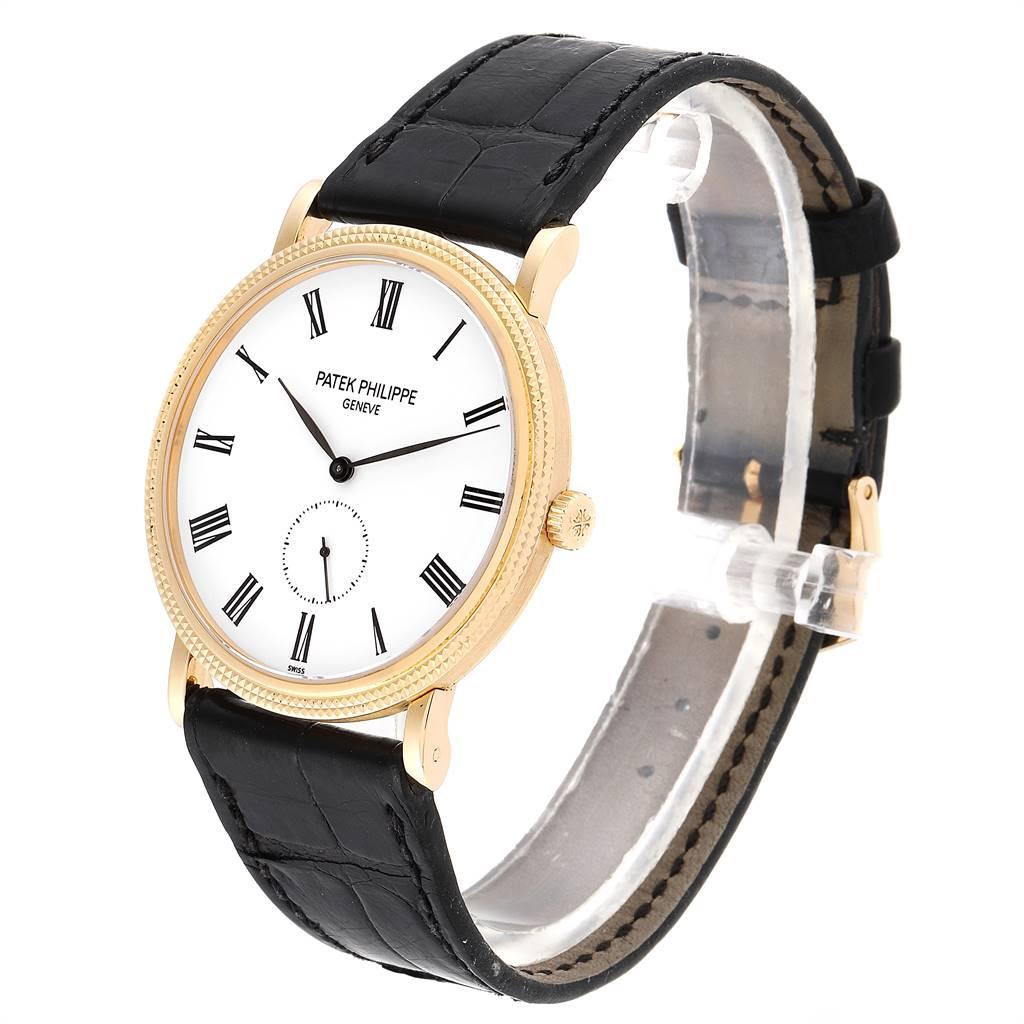 Patek Philippe Calatrava Yellow Gold Watch 5119 Box Papers SwissWatchExpo