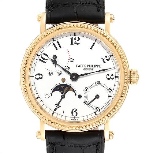 Patek Philippe Calatrava Yellow Gold Moon Phase Power Reserve Watch 5015