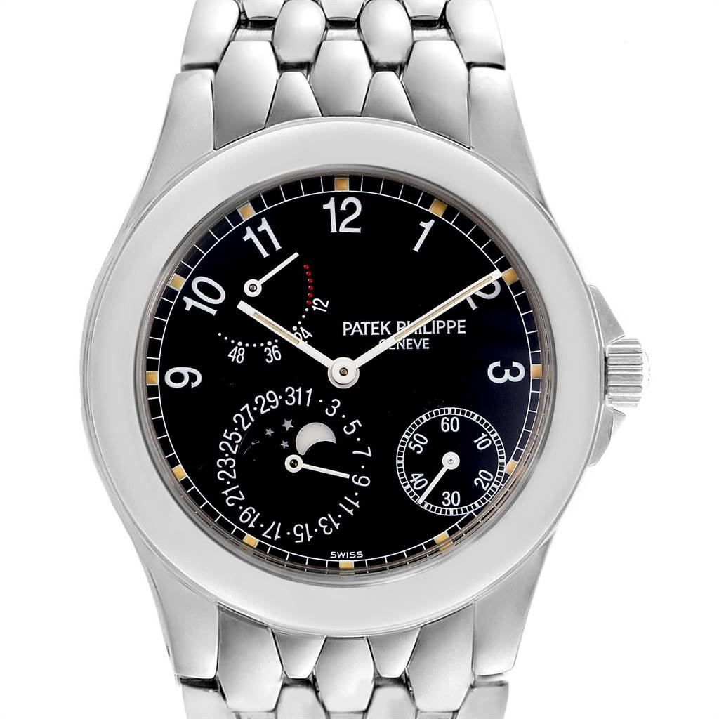 Patek Philippe Neptune Moonphase Power Reserve Steel Mens Watch 5085 SwissWatchExpo