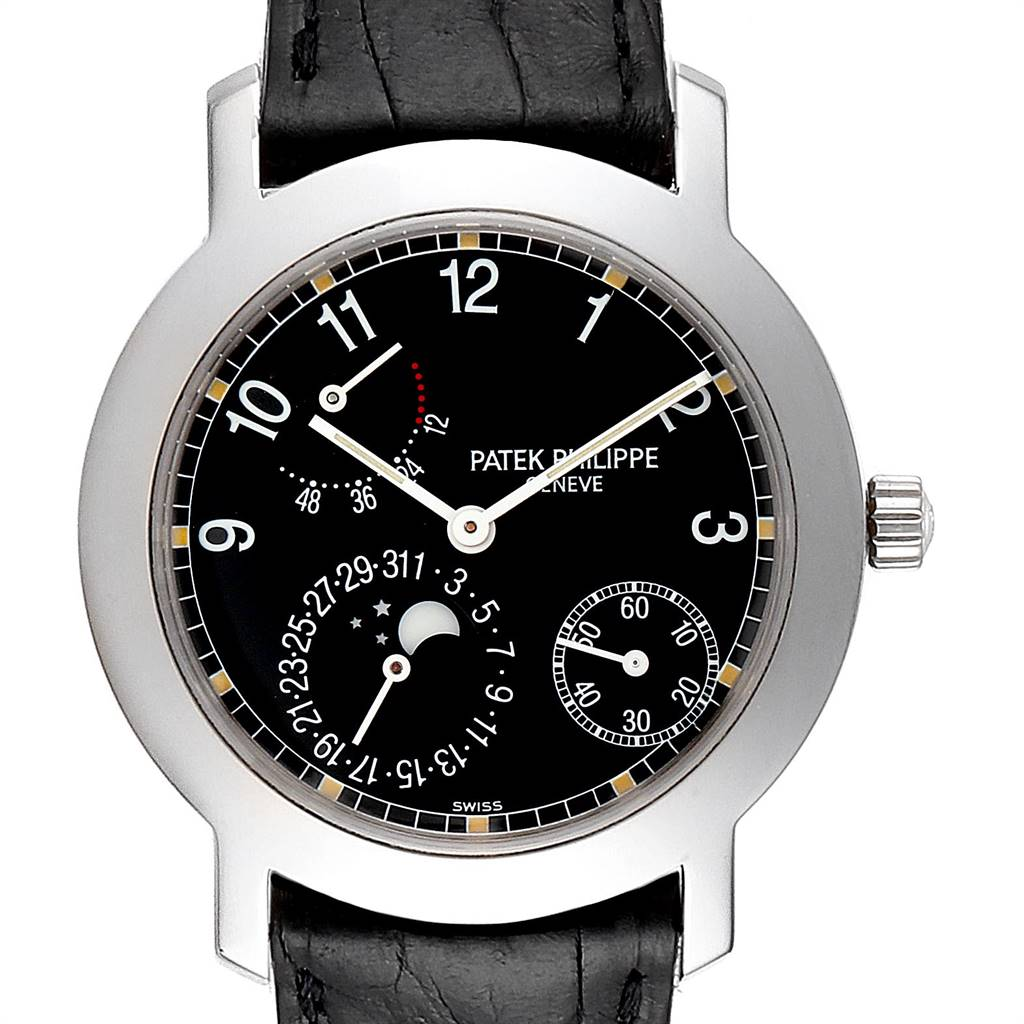 Patek Philippe Moonphase Power Reserve White Gold Automatic Watch 5055 SwissWatchExpo
