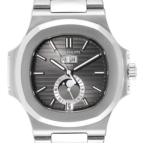 Photo of Patek Philippe Nautilus Annual Calendar Moonphase Steel Mens Watch 5726/1A