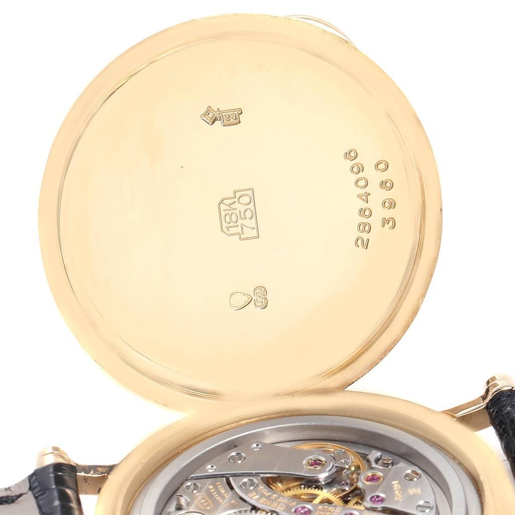 25919 Patek Philippe Calatrava Officier Yellow Gold Mens Watch 3960 Box Papers SwissWatchExpo