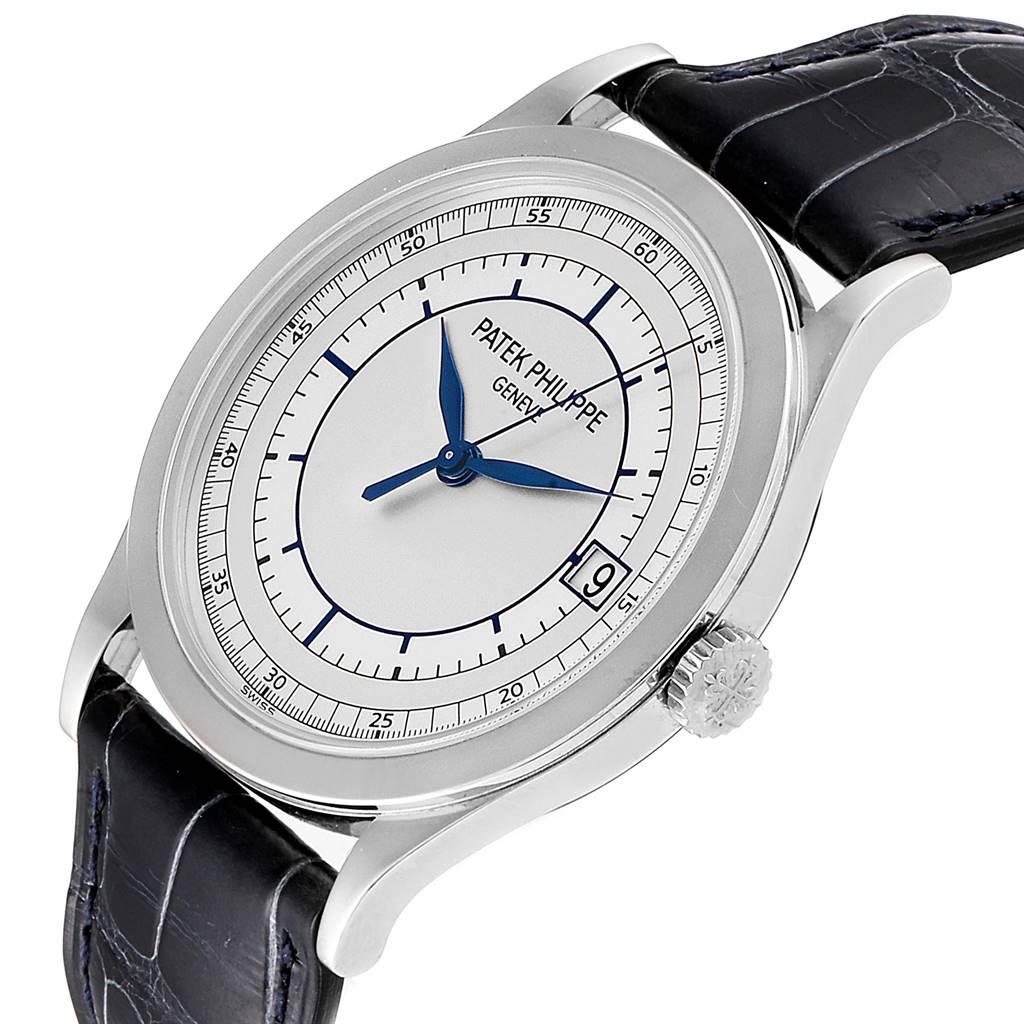 26072 Patek Philippe Calatrava White Gold Automatic Mens Watch 5296G Box Papers SwissWatchExpo