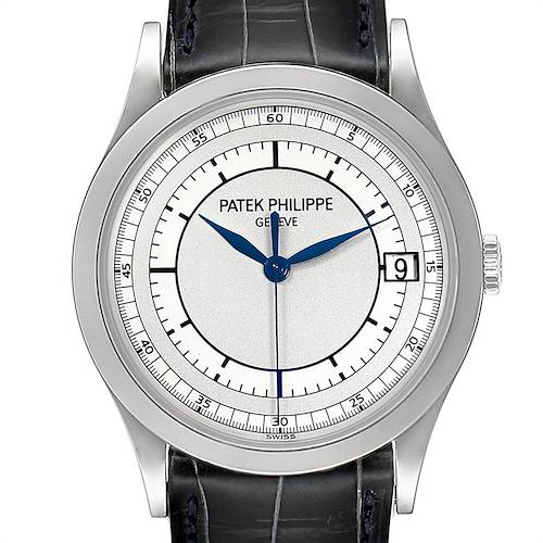 Photo of Patek Philippe Calatrava White Gold Automatic Mens Watch 5296G Box Papers
