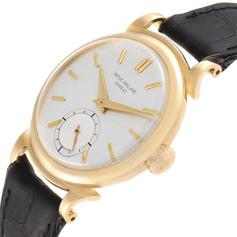 Patek Philippe Calatrava Vintage 18k Yellow Gold Mens Watch 1491 SwissWatchExpo