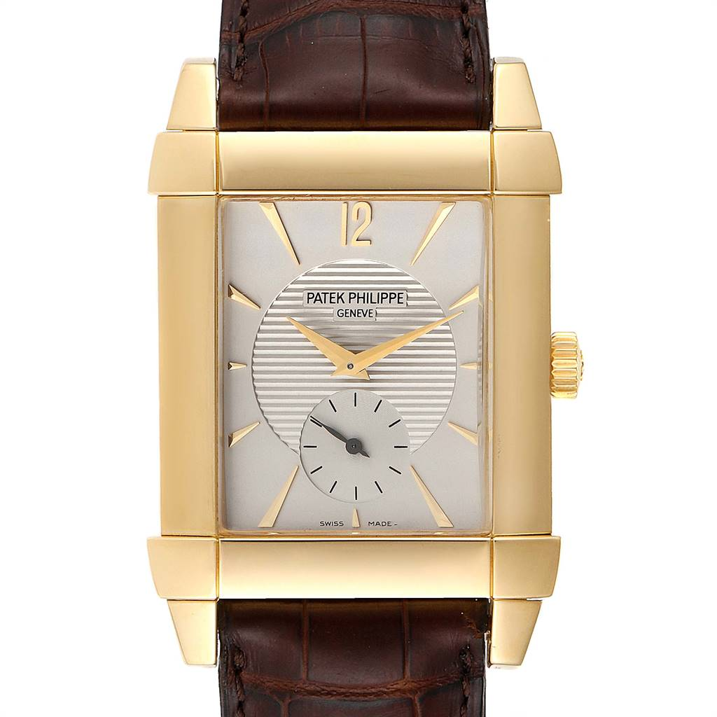 Patek Philippe Gondolo Small Seconds Yellow Gold Silver Dial Watch 5111J SwissWatchExpo