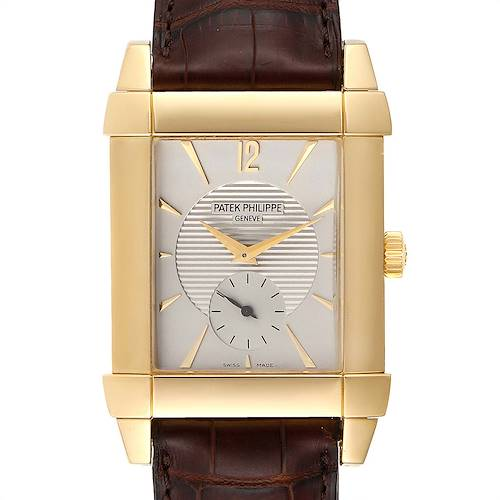 Photo of Patek Philippe Gondolo Small Seconds Yellow Gold Silver Dial Watch 5111J