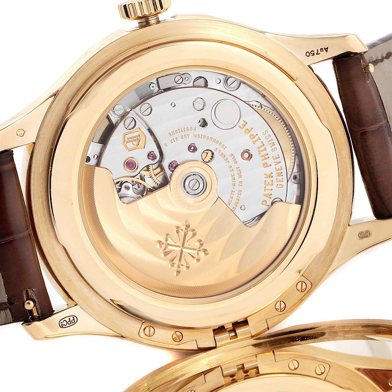 Patek Philippe Calatrava Hunter Case Yellow Gold Automatic Mens Watch 5227 SwissWatchExpo
