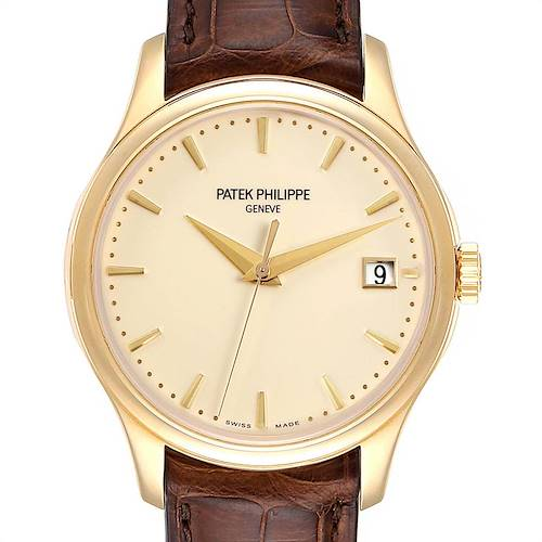 Photo of Patek Philippe Calatrava Hunter Case Yellow Gold Automatic Mens Watch 5227