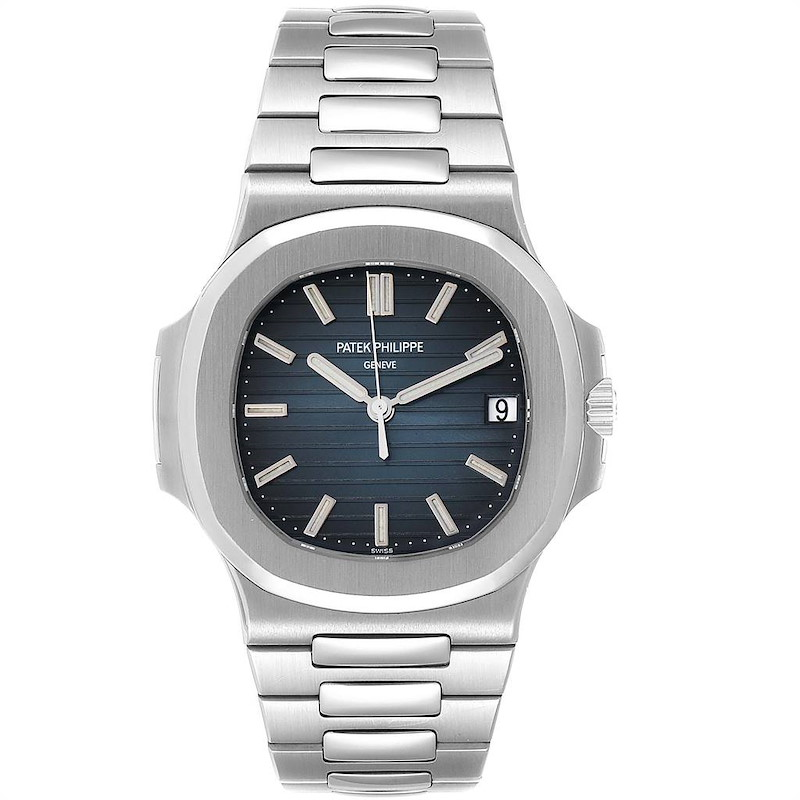 Patek Philippe Nautilus Blue Dial Steel Mens Watch 5711 Box Papers SwissWatchExpo
