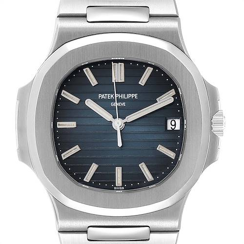 Photo of Patek Philippe Nautilus Blue Dial Steel Mens Watch 5711 Box Papers