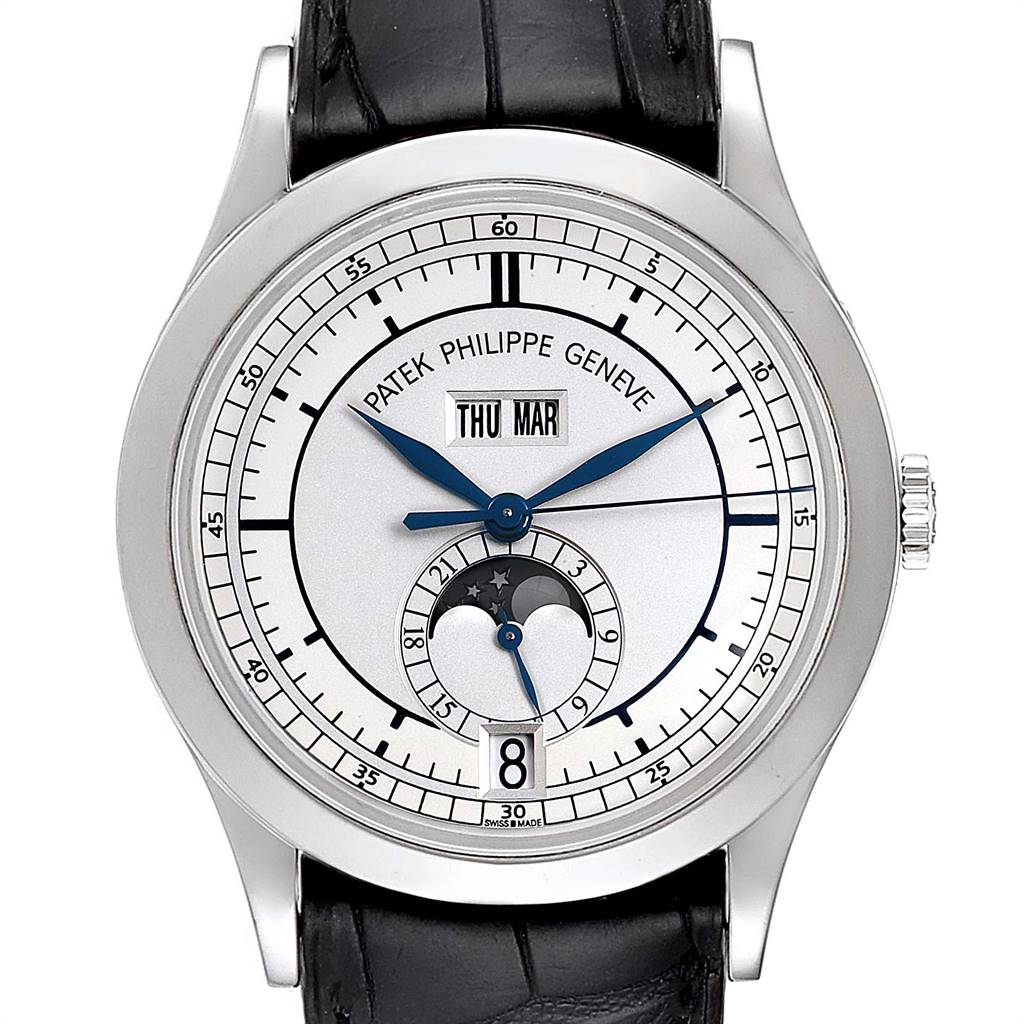 Patek Philippe Complications Annual Calendar White Gold Mens Watch 5396 SwissWatchExpo