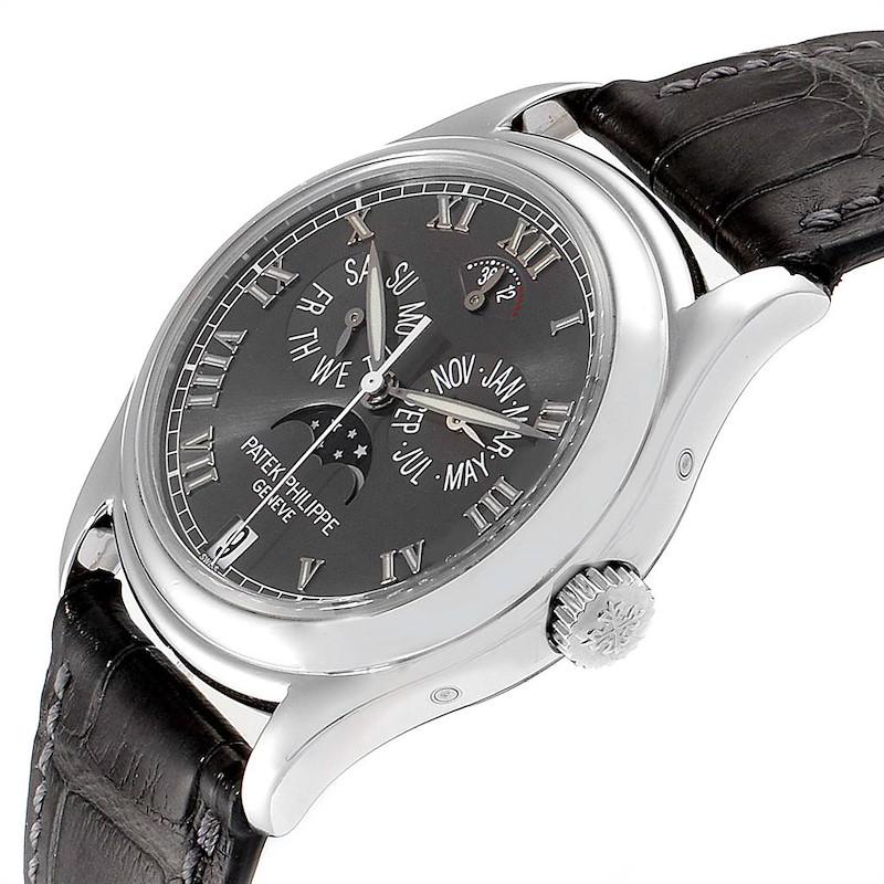 Patek Philippe Complications Annual Calendar Moonphase Platinum Watch 5056 SwissWatchExpo