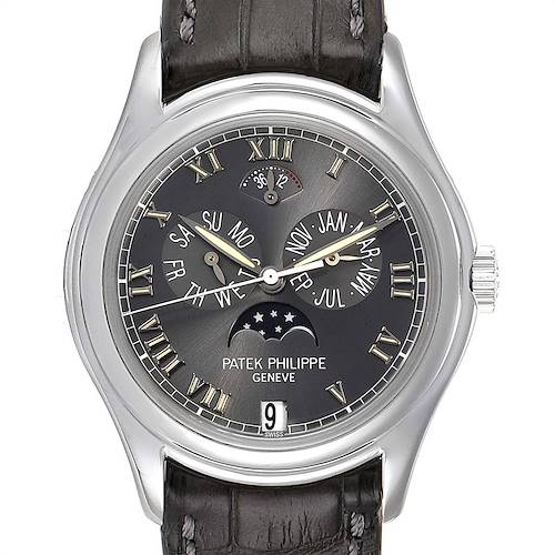 Photo of Patek Philippe Complications Annual Calendar Moonphase Platinum Watch 5056
