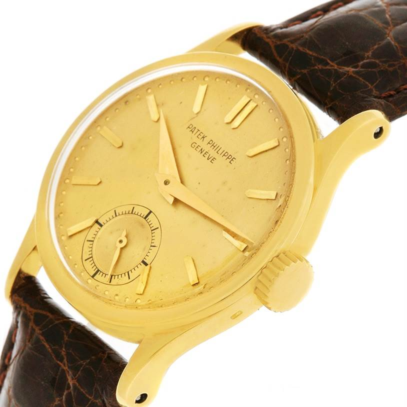 2684 Patek Philippe Calatrava 18k Yellow Gold Manual Winding Vintage Watch 96 SwissWatchExpo