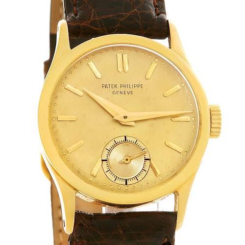 Photo of Patek Philippe Calatrava 18k Yellow Gold Manual Winding Vintage Watch 96