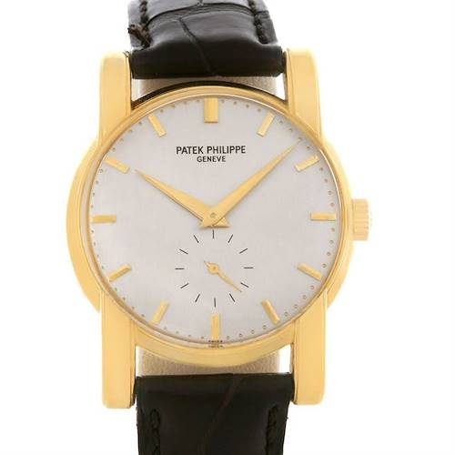 Photo of Patek Philippe Calatrava Vintage 18k Yellow Gold Watch 2428 Year 1952