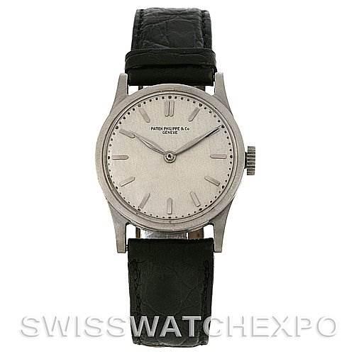2905 Patek Philippe Calatrava Vintage Stainless Steel ref 18 Watch SwissWatchExpo