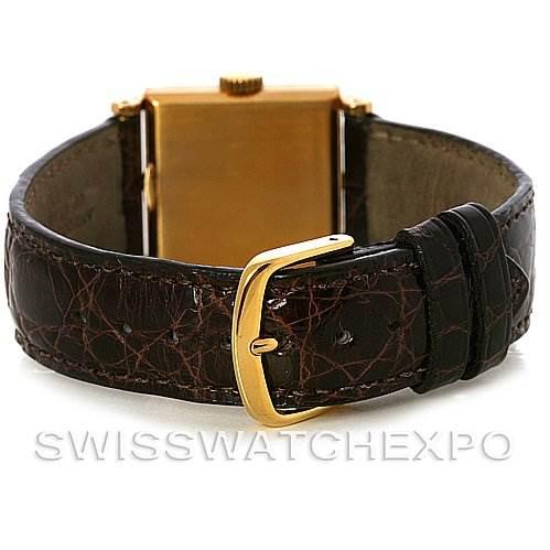 3057 Vintage Patek Philippe Mens 18K Yellow Gold Platinum Sapphire Hour Markers 482 SwissWatchExpo