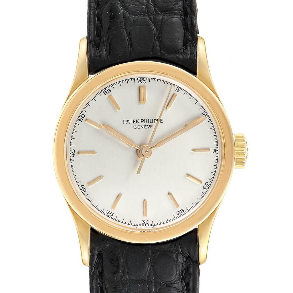 Patek Philippe Calatrava Vintage 18k Yellow Gold Mens Watch 2457 SwissWatchExpo