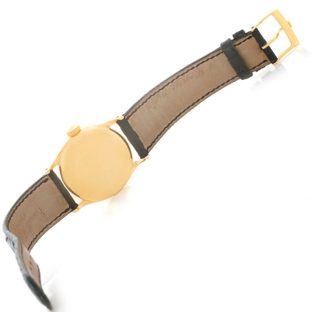 4840 Patek Philippe Calatrava Vintage 18k Yellow Gold Watch 2457 Year 1951 SwissWatchExpo