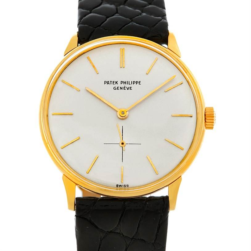 32592f7d71e 5247 Patek Philippe Calatrava Vintage 18k Yellow Gold 2573/2 Watch  SwissWatchExpo