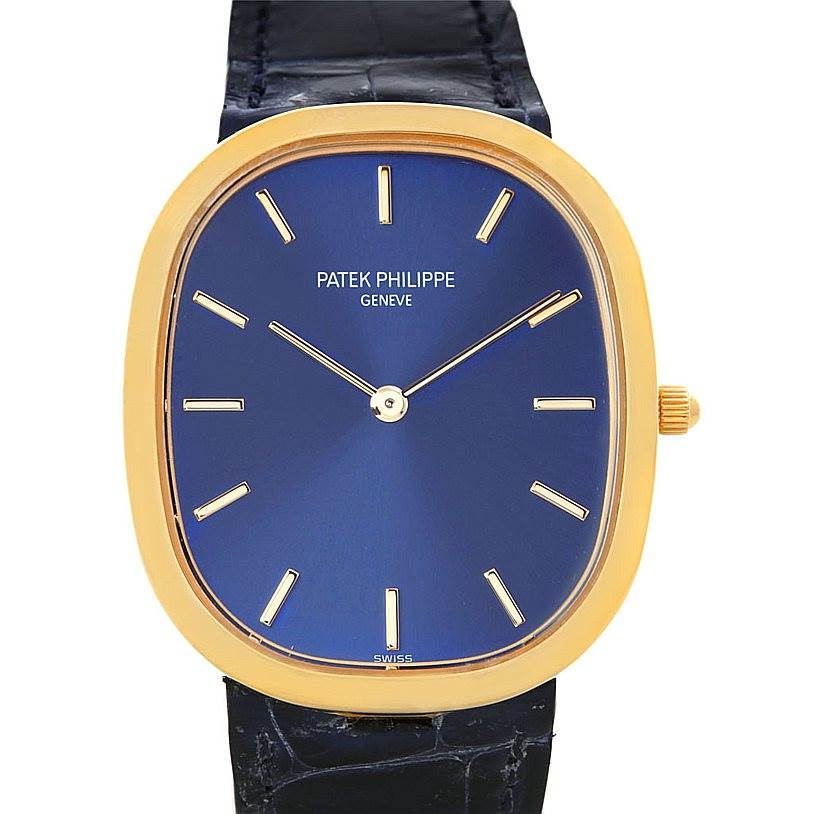 5122P Patek Philippe Golden Ellipse 18k Yellow Gold Watch 3738 SwissWatchExpo