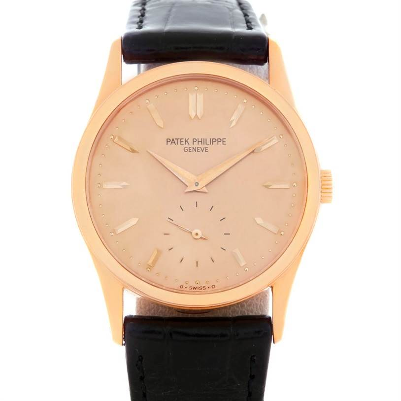 5126P Patek Philippe Calatrava 18k Rose Gold Mechanical Watch 3796 Year 1994 SwissWatchExpo