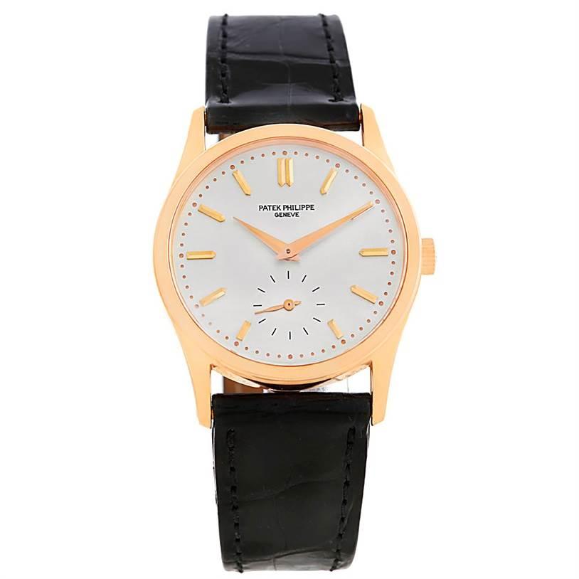 5129 Patek Philippe Calatrava 18K Rose Gold Vintage Watch 3796 SwissWatchExpo