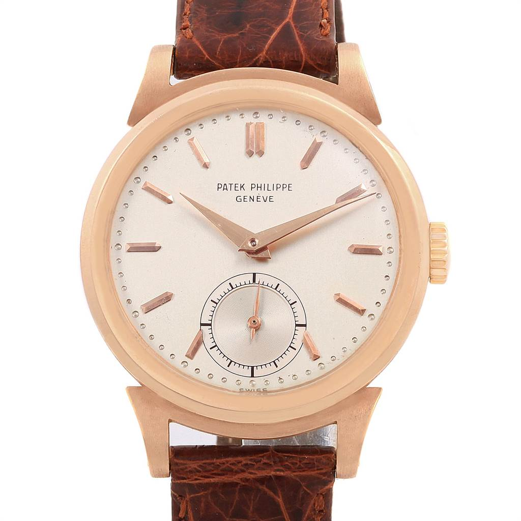 Patek Philippe Calatrava Vintage 18k Rose Gold Mens Watch 1491 SwissWatchExpo