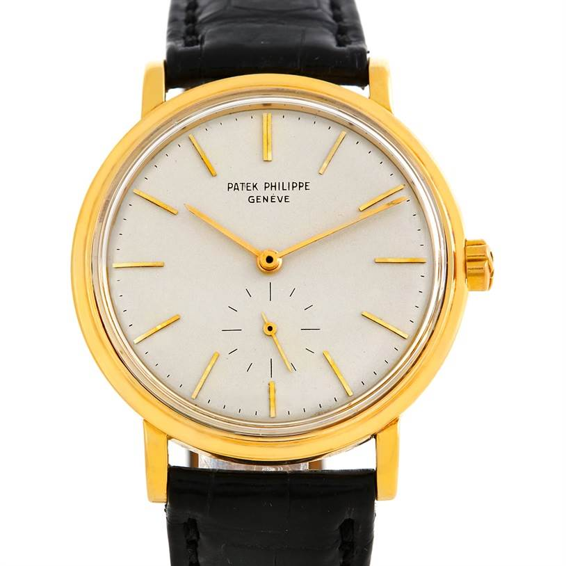 4488 Patek Philippe Calatrava Vintage 18k Yellow Gold Watch 3429 SwissWatchExpo