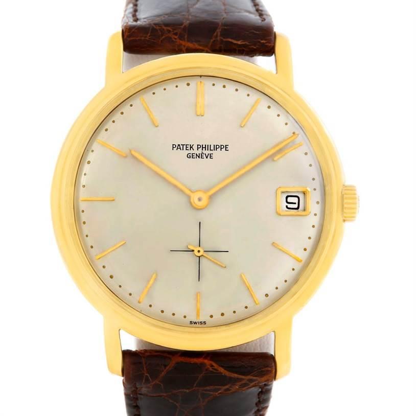 5363 Patek Philippe Calatrava Vintage 18k Yellow Gold Automatic Watch 3445 SwissWatchExpo