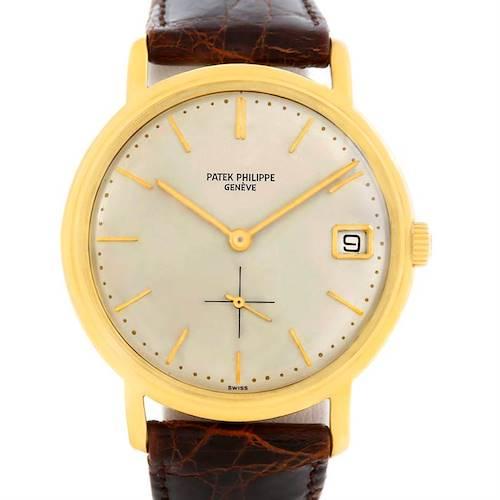 Photo of Patek Philippe Calatrava Vintage 18k Yellow Gold Automatic Watch 3445