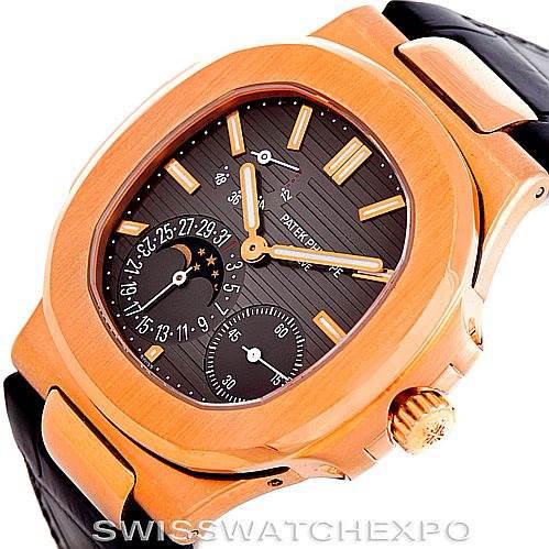 Patek Philippe Nautilus 18K Rose Gold Mens Watch 5712R SwissWatchExpo