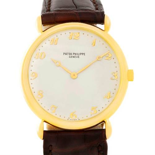 Photo of Patek Philippe Calatrava Yellow Gold Teardrop lugs Vintage Watch 3820